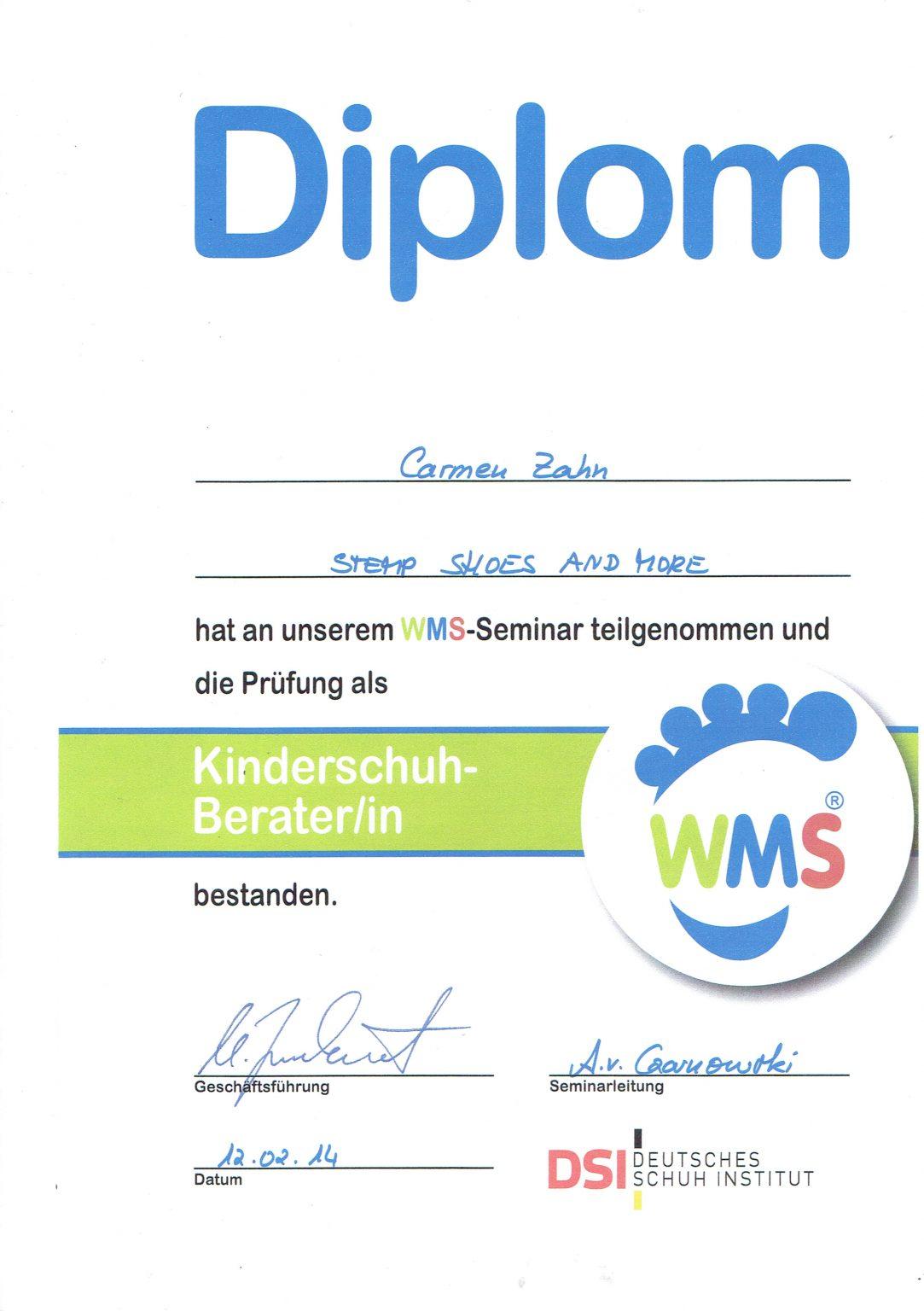WMS Diplom Zahn