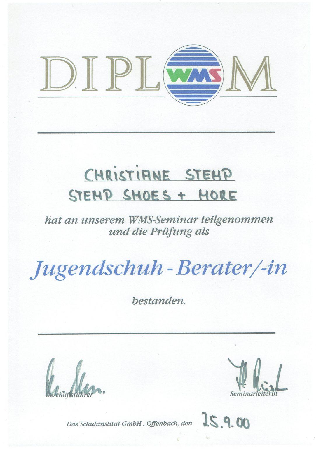 WMS Diplom christiane